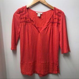 🌻SALE!🌻 Lucky Brand V-Neck Knit Boho Blouse